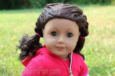 American girl doll hairstyle sporty double braid