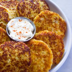 Cauliflower Cheddar Fritters (Pancakes) |