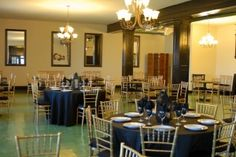 Simple linen and decorations can go a long way here at Woodrow Hall.