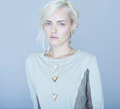 Iceland Necklace geometric signature by shlomitofir