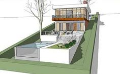 Image result for pool ideas for sloping block on a budget