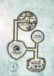 Carte dessinée pour le supplément de cinq scénarios Premières Aventures pour Mythras.