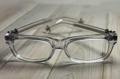 f0a3818cedee CHROME HEARTS SPLAT DEMI CRYS Crystal Clear BONE Glasses Eyewear Eyeglasses  Frame Sterling Silver