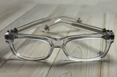 4efdf431ceb4 CHROME HEARTS SPLAT DEMI CRYS Crystal Clear BONE Glasses Eyewear Eyeglasses  Frame Sterling Silver