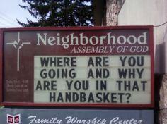 Church Sign by kirsten