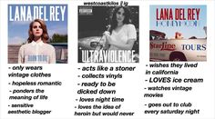 """""""yes i excluded paradise because i had no room but yeah i tried  #lanadelrey  #lizzygrant"""""""
