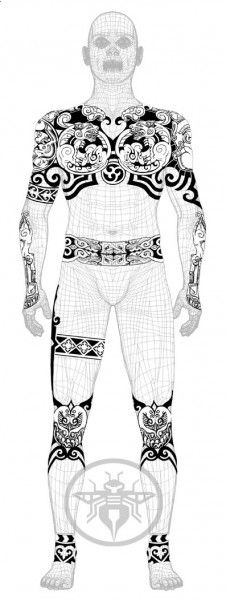 Scythian style tattoo concept