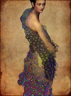 Peacock dress, by Catrin Welz-Stein