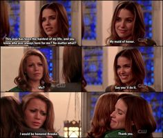 HS Peyton and Brooke may be bffs but the older everyone got, Haley and Brooke became the closest