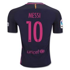 Lionel Messi Authentic Away Soccer Jersey 16/17 Barcelona #10