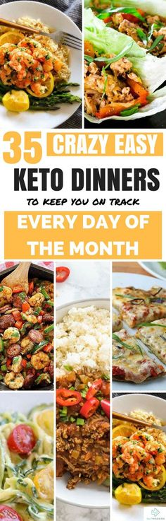 35 Ketogenic Dinners for Every Day of the Month #keto #ketodiet #ketorecipes