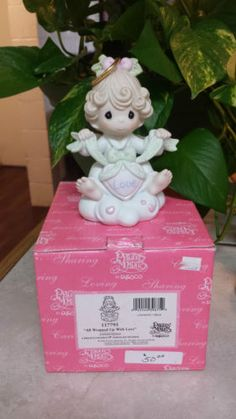 PRECIOUS-MOMENTS-ALL-WRAPPED-UP-IN-YOUR-LOVE-117795-VERY-RARE-FIGURINE-NEW