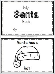 Santa Mini-Book for Christmas Time