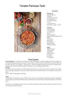 Tomaten Tarte mit Parmesan-001 Soul Food, Parmesan, Quiches, Frittata, Mini Tarte, Baked Goods, No Cook Meals, Cheese Tarts, Pork