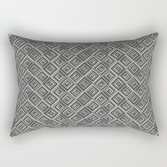 Geometric Optical Illusion VII by LimenGD | Rectangular Pillow on Society6. #HomeDecor #SurfaceDesign #GiftIdeas #PatternDesign