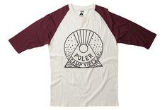 Men's Snowglobe Baseball T-Shirt - black/white #poler #polerstuff #campvibes