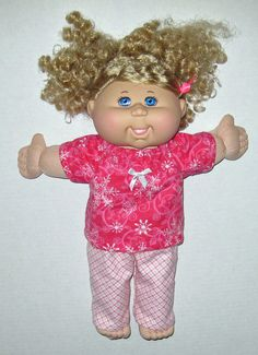 Cabbage Patch Doll Clothes Pink and White by Dakocreations on Etsy, $14.50