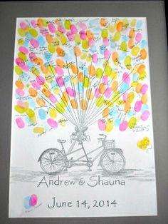 Tandem Bicycle Hand drawn custom designed by AlwaysAboveAndBeyond