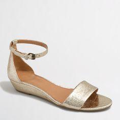 081e5565cf9c6 J.Crew Factory - Factory crackle demi-wedge sandals Low Wedge Sandals