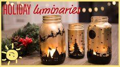 DIY | Holiday Mason Jar Luminaries