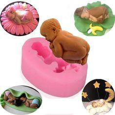Bebes en pates a sucre pate d 39 amande chocolat moule a bebe silicone fimo cernit et - Bebe en pate fimo ...