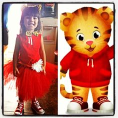My daughter Rylee Ann as Daniel Tiger at her daniel tiger birthday party