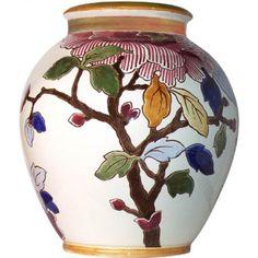 Pivoines - 1 Grand vase Crémone - Lart de décorer - Gien Prestige - Collections