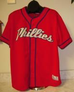 Be a #baseball player for #Halloween! Vintage Phillies Major League Baseball Jersey Size LGenuine Major League Baseball Merchandise Measures 25 Armpit to Armpit, 31.5 Long 100...