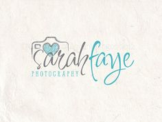 Premade Photography logo design and photography logo Watermark. Camera logo and heart logo.