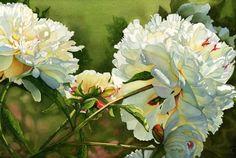 Jane Freeman: Peonies, watercolor