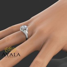 MY ABSOLUTE FAVORITE  Oval Diamond Engagement Ring 14K White Gold Oval by AyalaDiamonds