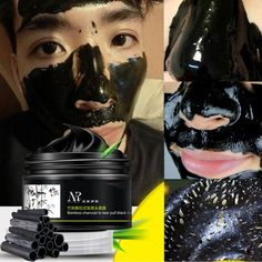 Bamboo Charcoal Facial Tear Pull Nose Blackhead Mask Gel Cleasing