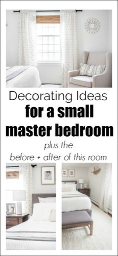 Small Master Bedroom Makeover  Before & After via @wifeinprogressblog