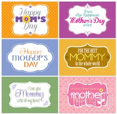 Giving MOM Some Love! Mother's Day FREE Printable Tags