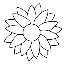 Simple sunflower to paint on a round stone or paver
