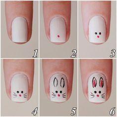 Rubia Olivo: Tutorial:  Bunny  #nail #nails #nailart