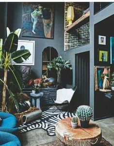 famgizmo:    Mind-Blowing Eclectic Interior Design Ideas Modern Interior Design, Interior Design Inspiration, Design Ideas, Contemporary Interior, Bohemian Interior, Scandinavian Interior, Interior Ideas, Design Projects, Modern Art