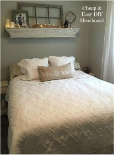 Cheap and easy DIY headboard