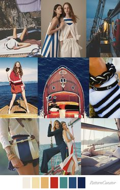 Pattern Curator color, print & pattern trends, concepts, insights and inspiration Color Trends, Design Trends, Yacht Fashion, Nautical Pattern, Spring Summer Trends, Vintage Colors, Color Inspiration, Fashion Inspiration, Wearable Art