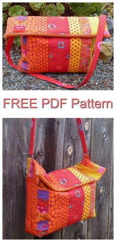 Here's a great FREE pattern to make the Flip Flop Messenger Bag. This roomy tote is designed with a loose structure so that when you are not using this bag it can be easily folded and stowed away. When making the Flip Flop Messenger Bag you can either use your favorite large prints or use lots of strips from a jelly roll. The pdf pattern includes directions for both options.