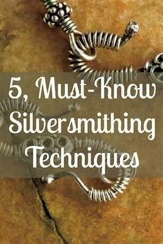 If you like silver jewelry making, then you'll LOVE these 5, must-known silversmithing techniques! #jewelrymaking #diyjewelry #silverjewelry #silversmithing #SilverJewelry