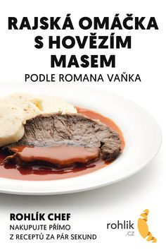 Czech Recipes, Main Meals, Food And Drink, Cooking Recipes, Sweets, Beef, Baking, Essen, Sweet Pastries