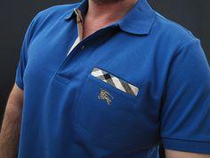 Burberry Men's Polo Shirt BLUE...<3