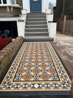 Victorian Front Garden, Victorian Hallway, Spanish Interior, Garden Path, Tile Design, Mosaic Tiles, Interior Ideas, Restore, Contemporary