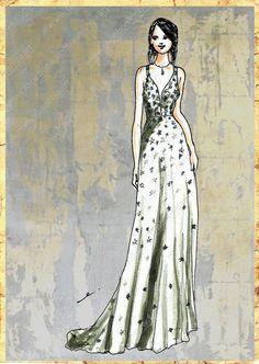 Elisenda Rico fashion illustration - VALENTINO