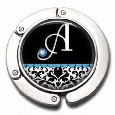 Personalized Purse Hanger  Blue Birthstone by NowThatsCharming, $15.99