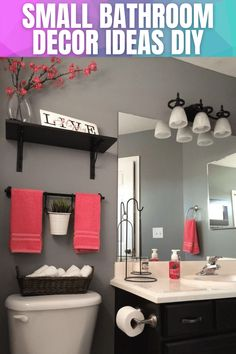 SMALL BATHROOM DECOR IDEAS DIY Best Bathroom Colors, Bathroom Color Schemes, Colour Schemes, Bad Inspiration, Bathroom Inspiration, Small Shower Remodel, Small Bathroom, Bathroom Ideas, Master Bathroom