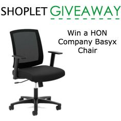 Our friends at HON are giving away this awesome Basyx Chair! Wanna #win? Here are the details!  http://blog.shoplet.com/giveaways/win-a-the-hon-company-basyx-chair/