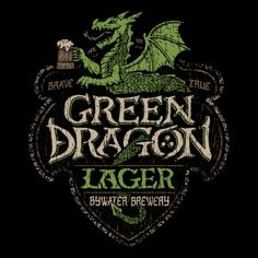 Tolkien: Lord of the Rings: The Green Dragon Lager t-shirt. #tolkien #lotr