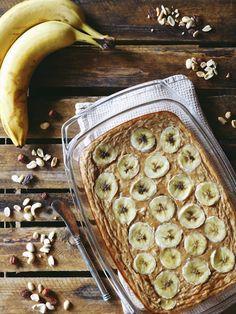 Kuchnia Ellie: Pieczona owsianka z bananem i cynamonem
